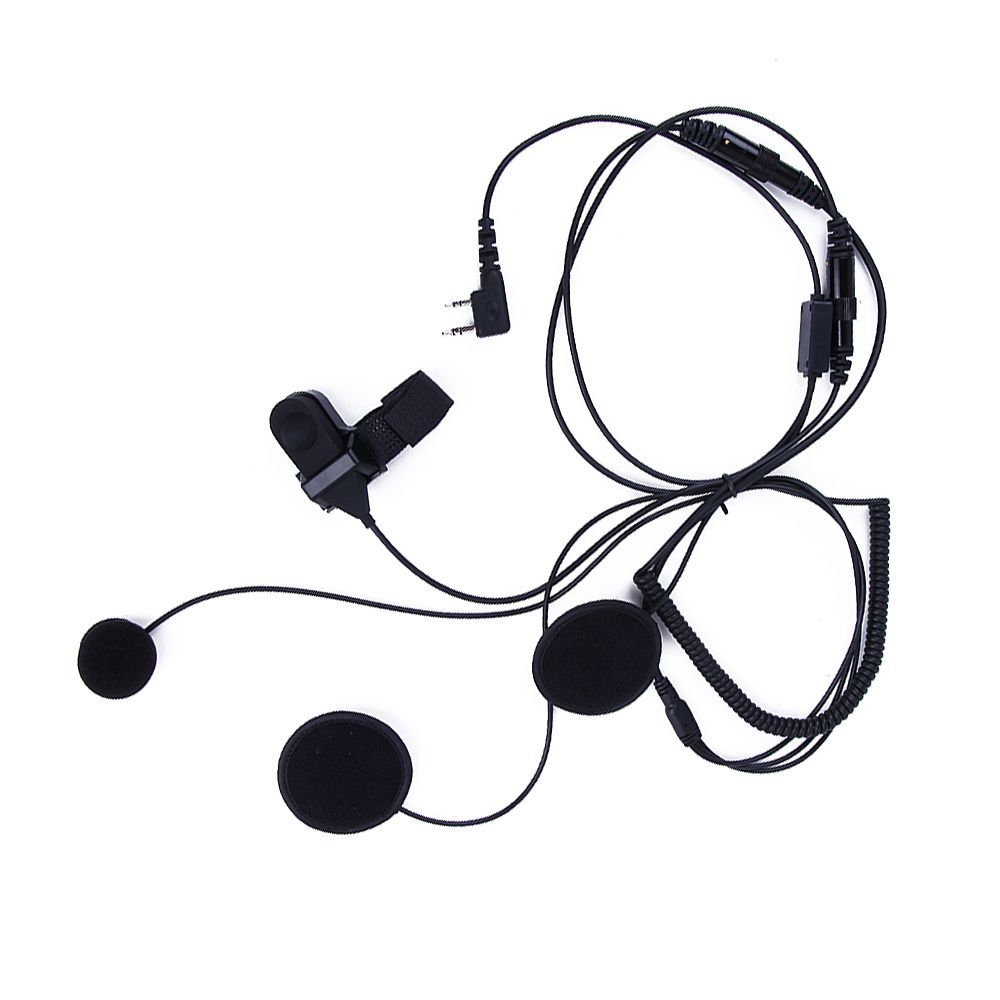 Motorcycle Full Face Helmet Headset For Walkie Talkie BaoFeng UV-5R 888S K Plug Universal microphone earpiece PTT waterproof