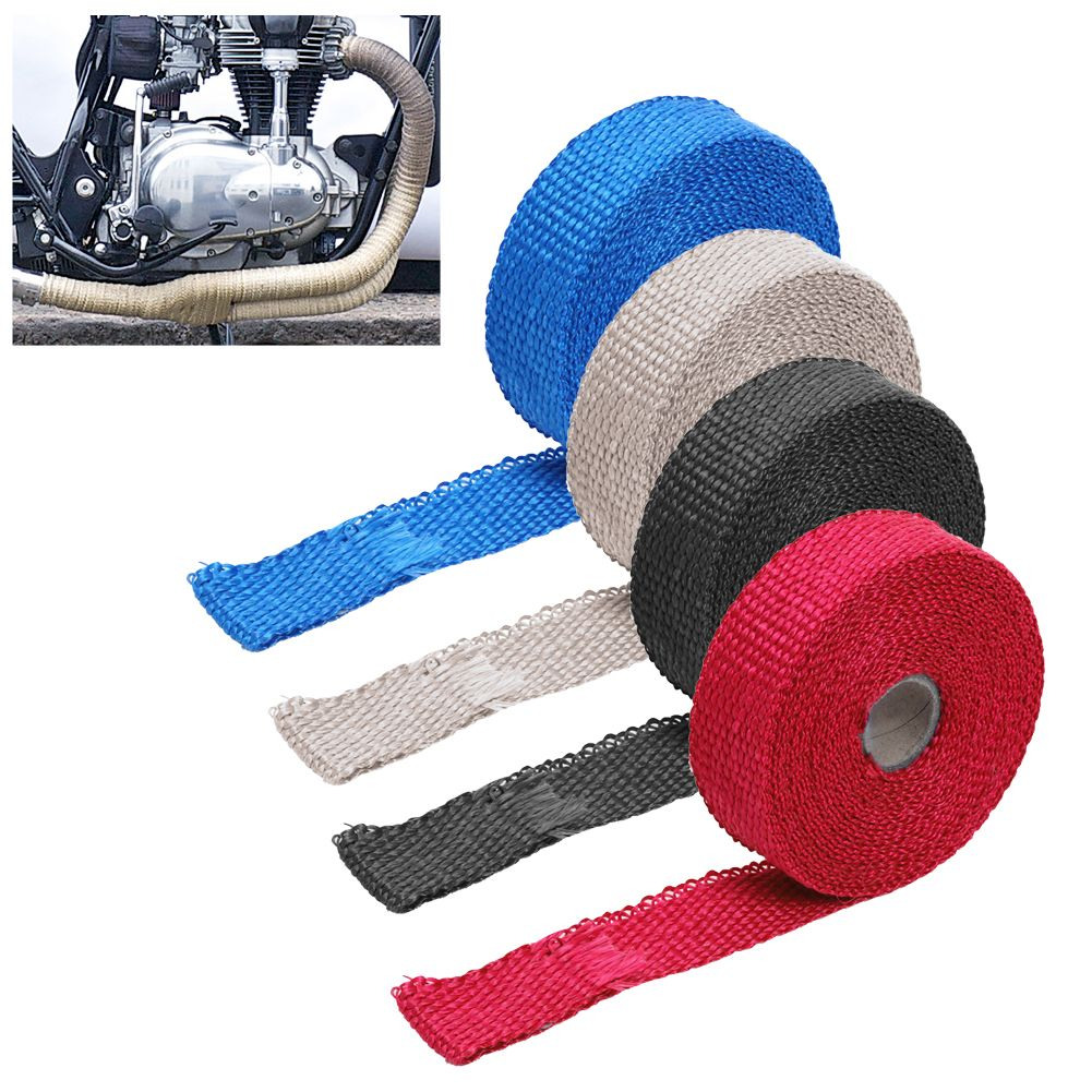 Car Motocycle Incombustible Turbo Manifold Heat Exhaust Wrap Tape Pressure Turbo Moto Exhaust Systems High Quality