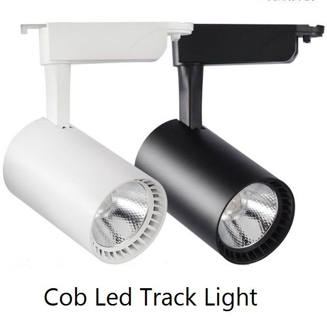 40pcs COB 20W Led Track light aluminum Ceiling Rail Track lighting Spot Rail Spotlights Replace Halogen Lamps