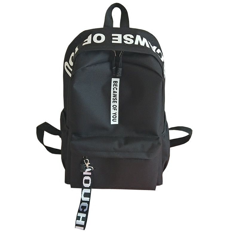 2018 Amasie unisex backpack book bag causal daily bag pack sac a dos Nylon letter printing men backpack EGT9005