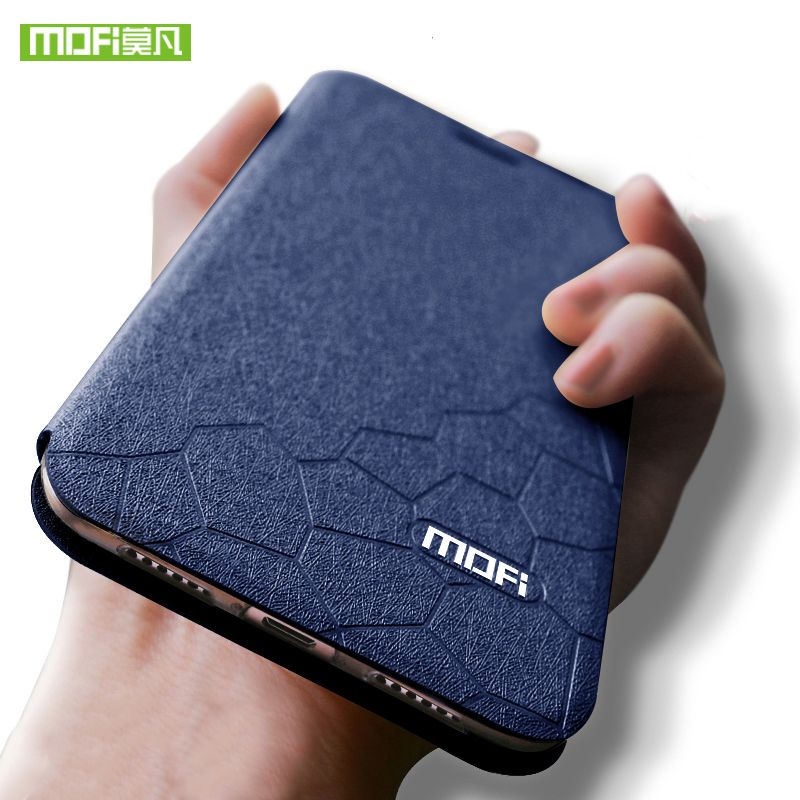 2018 For Xiaomi Pocophone F1 Case Pocophone F1 Cover Silicone MOFi POCOF1 flip leather Phone Case For Xiaomi Poco F1 Global Case