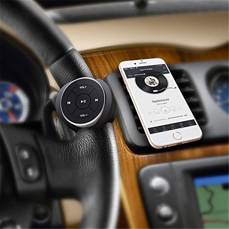 SITAILE Wireless Bluetooth Media Steering Wheel Remote Control mp3 Music <font><b>Play</b></font> for Android IOS Smartphone Control Car Kit Styling