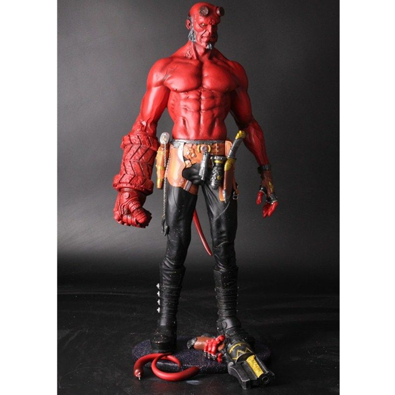 Movie HB Hellboy Series Smoking With Includes Samaritan Handgun Cartoon Toy PVC Action Figure Model Doll Gift L2139