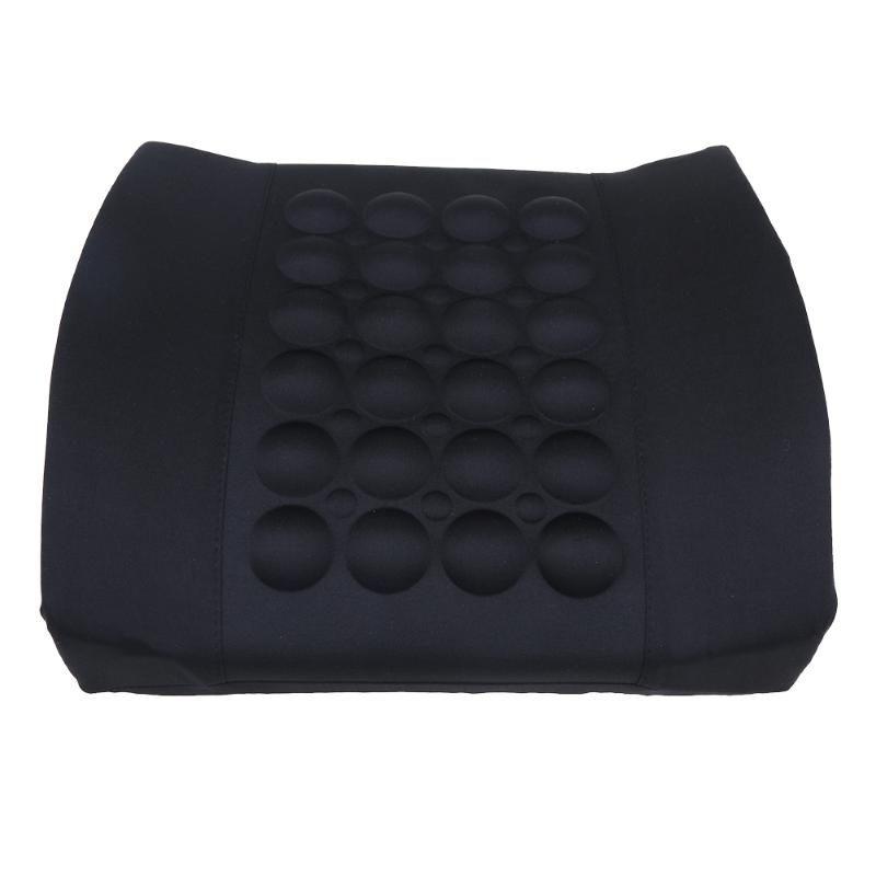 1Pc Car Lumbar Support Pillow 12V Electric Massage Lumbar Pillow Car Seat Back Relaxation Waist Support Cushion Pillow Promotion