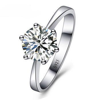 JEXXI Romântico Anéis de Casamento Jóias Anel de Zircônia Cúbica para As Mulheres Homens S90 Cor Anéis de Prata Acessórios