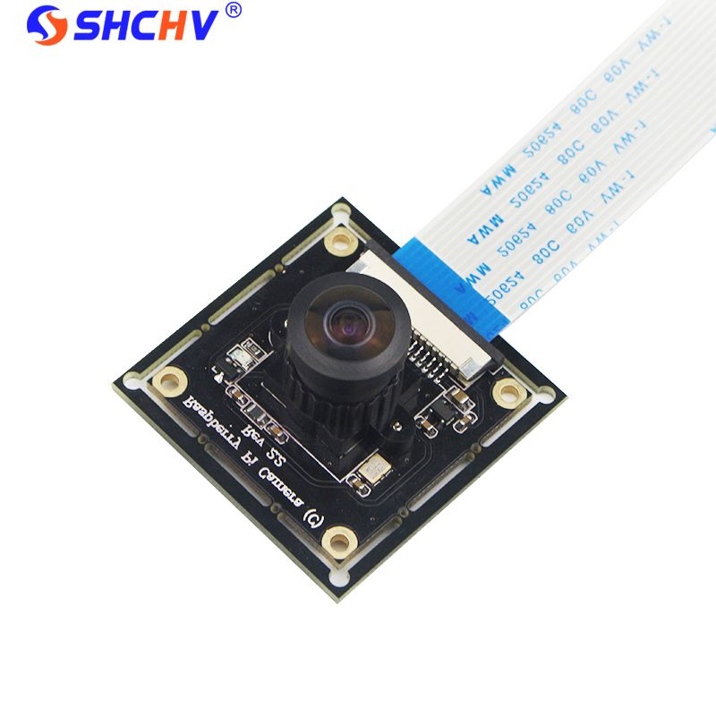 Raspberry Pi 3 Module de Caméra OV5647 Poissons Yeux Grand Angle Caméra Focale réglable pour Sonnette Surveillance Caméra Module DIY