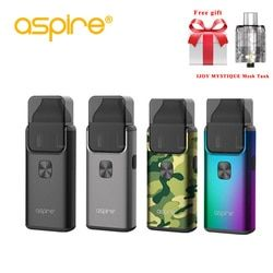 Hadiah Gratis Aspire Breeze 2 AIO Kit Built-In 1000 MAh Baterai dengan 2 Ml/3 Ml Tank Atomizer Terbaru rokok Elektronik Vape Kit