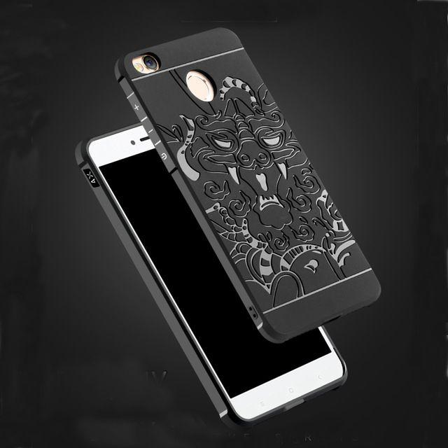 Cas de téléphone de luxe Pour Xiaomi Redmi 4X Haute qualité silicone dures De Protection couverture arrière cas pour xiaomi redmi 4x téléphone shell