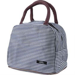 Baby Milk Bottle Striped Insulation Mummy Bags Hot Cool Food Mom Organizer Baby Care Women Kids Lunch Bag Cooler