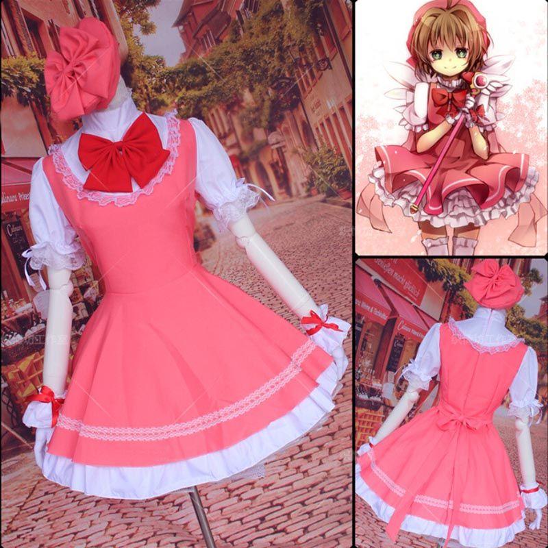Casquette de costume de cosplay Sakura Kinomoto Sakura