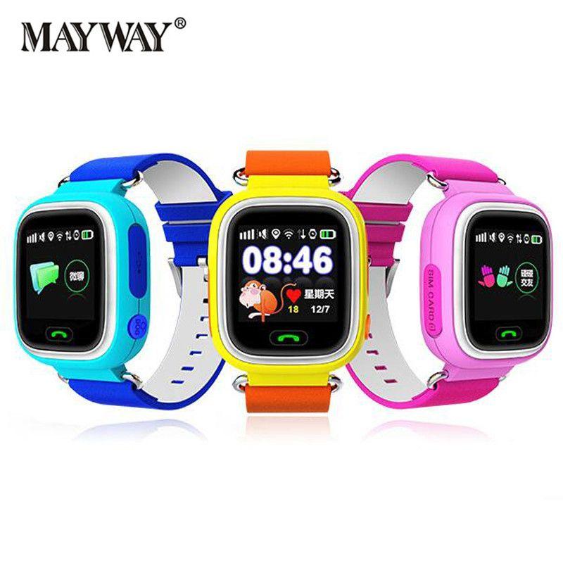 Smart wear Children Smart Watch Kids Q90 Intelligent Clock SIM Card Anti-Lost Location Watch Device Tracker English Russian