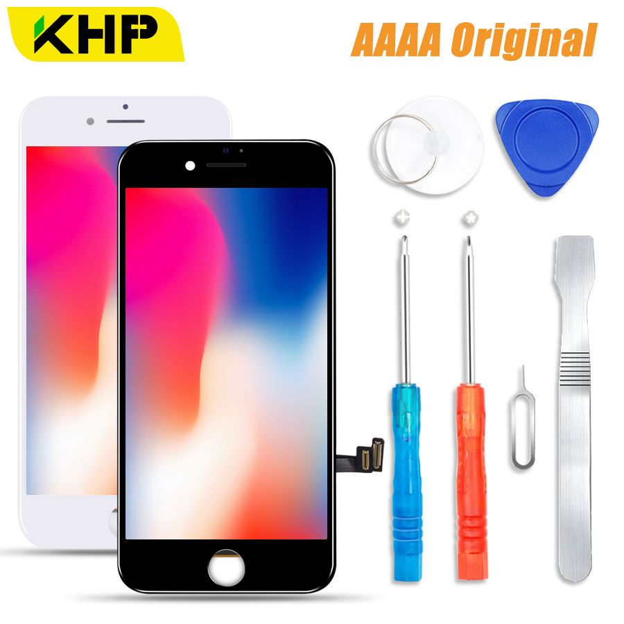 2018 KHP 100% AAAA Original LCD Screen For iPhone 8 Plus Screen LCD Display Digitizer Touch Module 8 Screens Replacement LCDS
