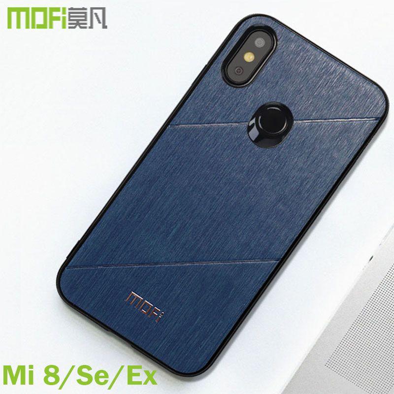 Xiaomi mi 8 cas explorer version couverture Mofi équipée d'origine xiaomi mi 8 couverture arrière sdd buiness style pour xiaomi mi 8 se cas