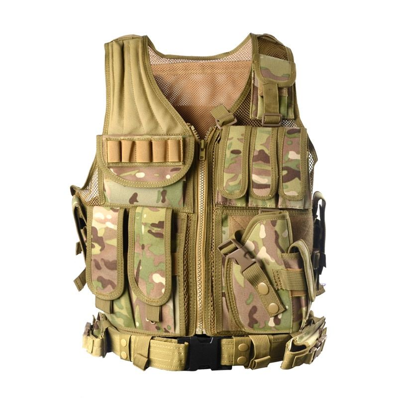 2018 New Outdoor Police Tactical Vest Camouflage Military Body Armor Sports Waistcoat Hunting Vest Swat Molle Tank Tops