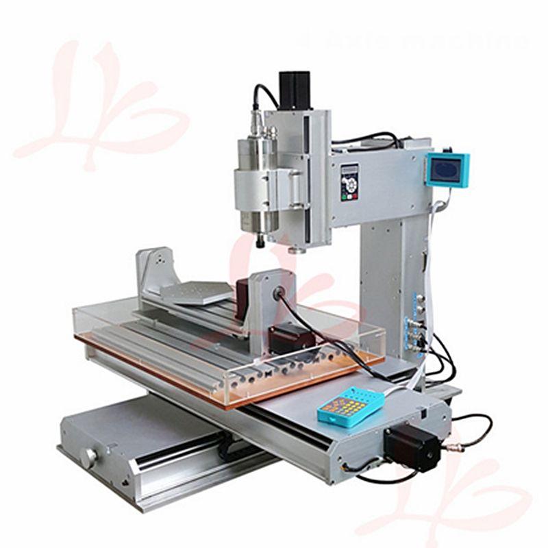 Spalte Typ CNC 3040 5 Achsen holz metall router maschine mit freies cutter collet LPT port 2.2KW