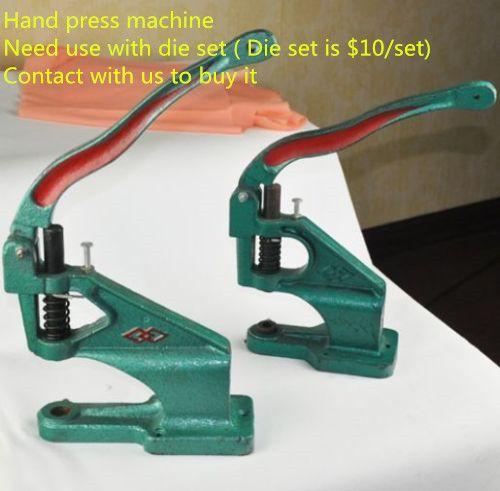 FREE SHIPPING BY EXPRESS hand press eyelet rivet machine snap button clinching machine press machine corn machine