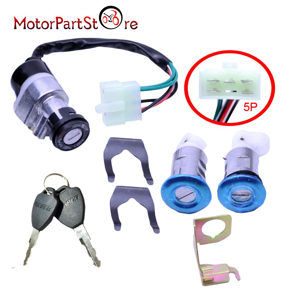 New Ignition Switch Key Set for Honda Gy6 125cc 150cc Moped Motorcycle Scooter 5 Wires *