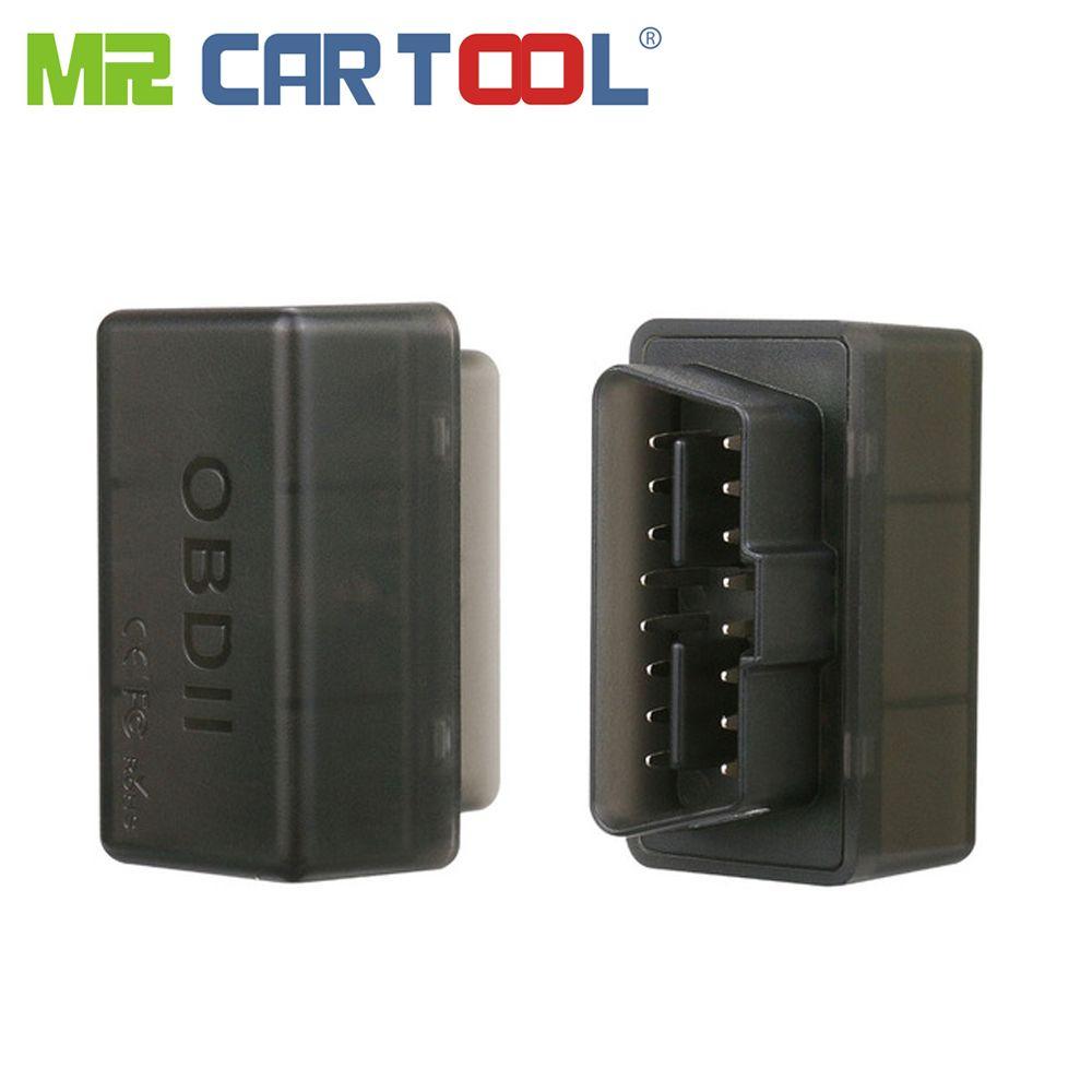 Mr Cartool nouveau noir Mini WiFi ELM327 OBD2 II ODB 2 voiture outil de Diagnostic automatique scanner Mini EML ELM 327 Wifi pour iPhone iPod Android