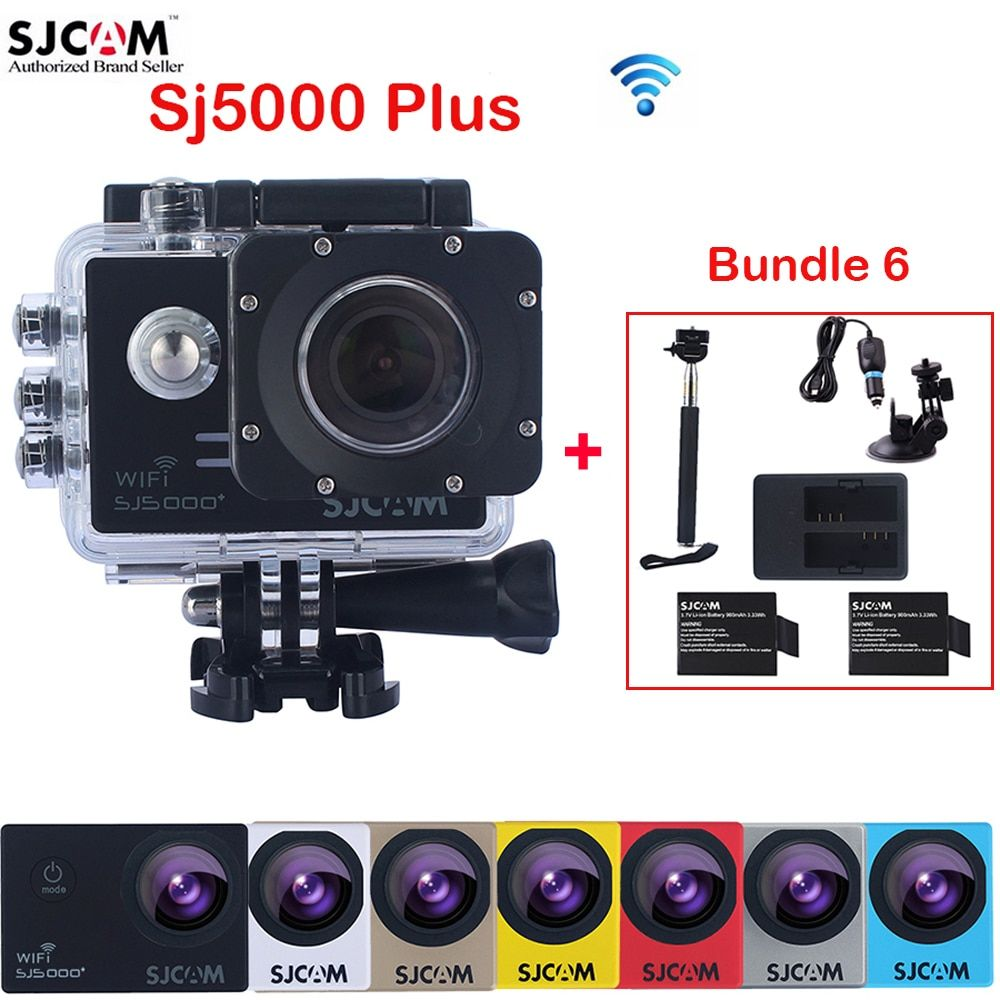 SJCAM SJ5000 Plus WiFi 30M Waterproof Sports Action Camera Sj Cam+2 Battery+Dual Charger+Selfie Stick+Car Charger+Suction Cup