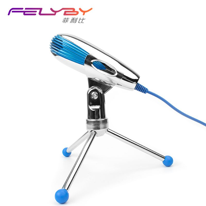 FELYBY SF-500 Condenser microphone for computer laptop USB Microphone stand karaoke Meeting video skype Voice chat video call