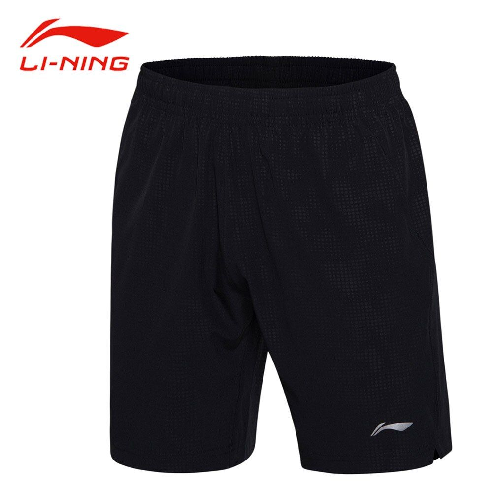 Li Ning Männer Badminton Shorts Dot Muster Einfarbig BEI Polyester Hosen Li Ning Atmungsaktive Sport-Shorts AAPM067