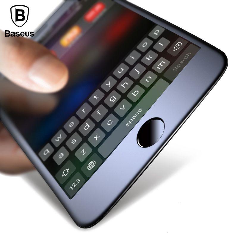 Baseus Premium Displayschutz Gehärtetem Glas Für iPhone 8 7 3D Frosted Schutz Volle Abdeckung Glas-film Für iPhone 8 7 Plus