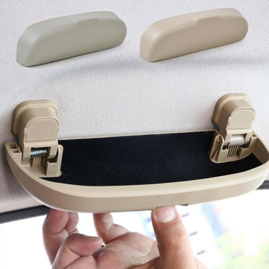 2017 Convenient Car Accessories Storage Box Autos Parts Sunglass Eye Glasses Holder Box Case For Ford