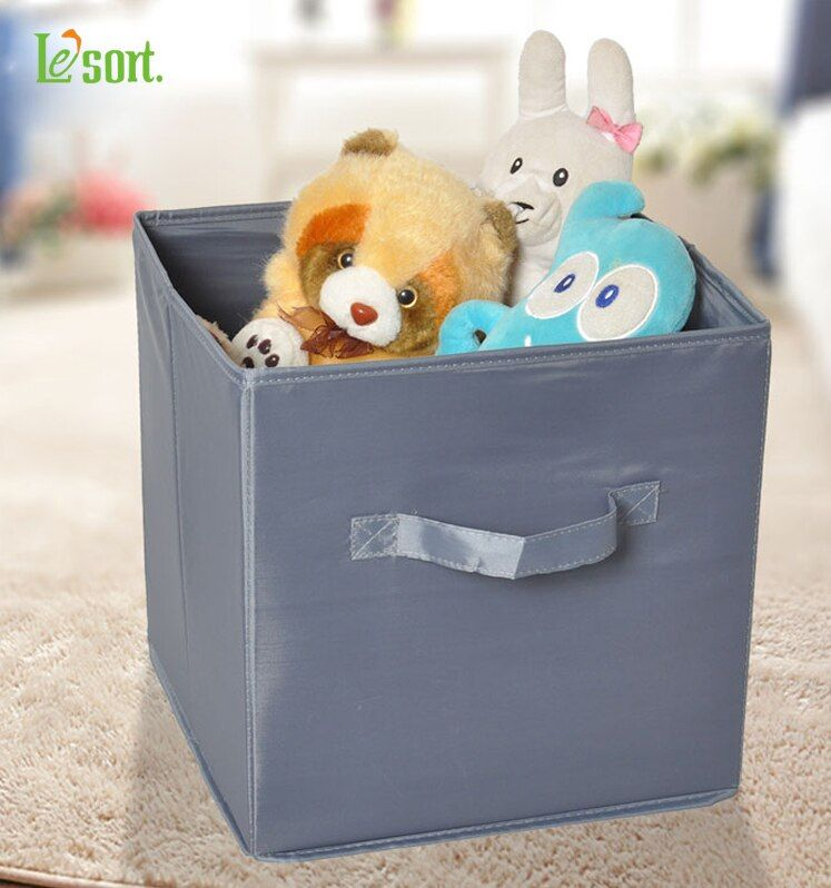 Organisateur modulaire boîte de rangement en tissu Polyester conteneurs de rangement avec poignée organisateur de tiroir pliable pour bac de rangement de vêtements