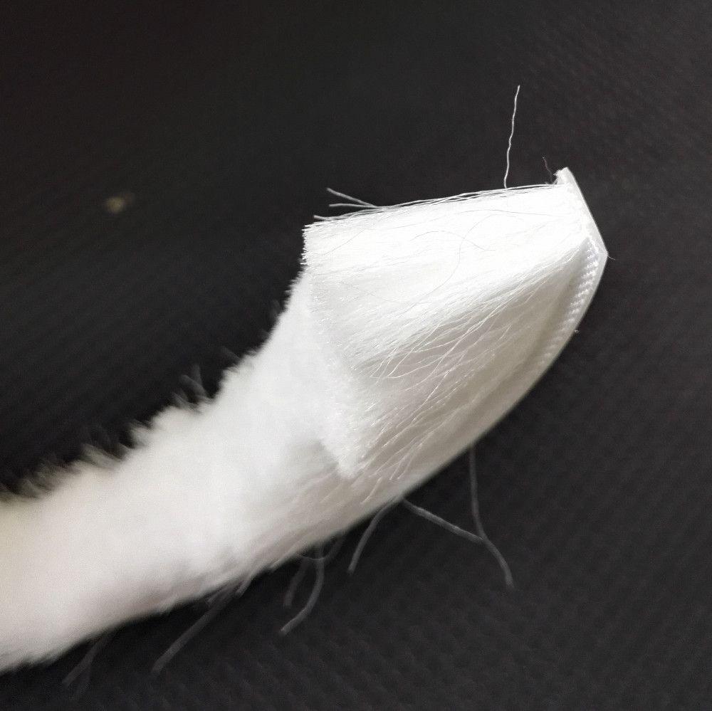 Auto-adhésif étanchéité laine Pile météo bande feutre Draught Excluder porte coulissante fenêtre brosse joint 9mm x 23mm 9x23mm blanc