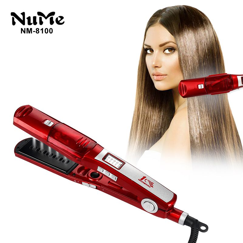Steam Hair Straightener Infrared steam curling Iron Ceramic hair curler LCD Display Styling Tool Professional Flat Iron
