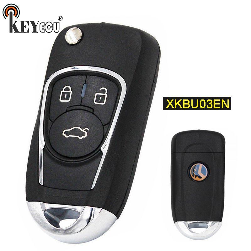 KEYECU XKBU03EN (Englisch Version) Universal 3 Taste Remote Key Fob für VVDI Schlüssel Werkzeug VVDI2