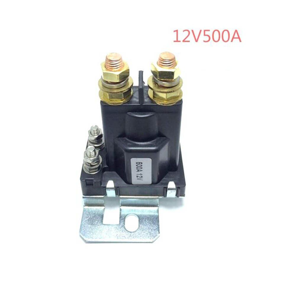 1PC 12V/24VDC 500A AMP 4 Pin Relay On/Off Car Auto Power Switch Plastic Double Batteries Isolator for Forklift Engineering