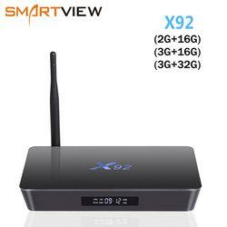 [Подлинный] X92 2 GB/3 GB 16 GB/32 GB Android 7,1 ТВ Box Amlogic S912 Восьмиядерный KD16.1 2,4/5 ГГц Wi-Fi 4 K смарт-Media player телеприставке