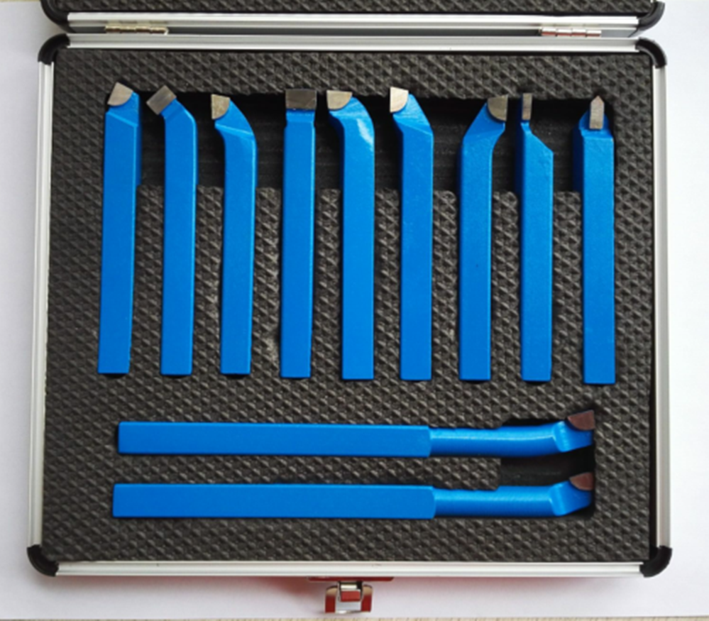11PCS Metal Carbide CNC Lathe Tools Mayitr Carbide Brazed Tipped Cutter Tool Bit Cutting Set Kits Welding Turning Tool Holder