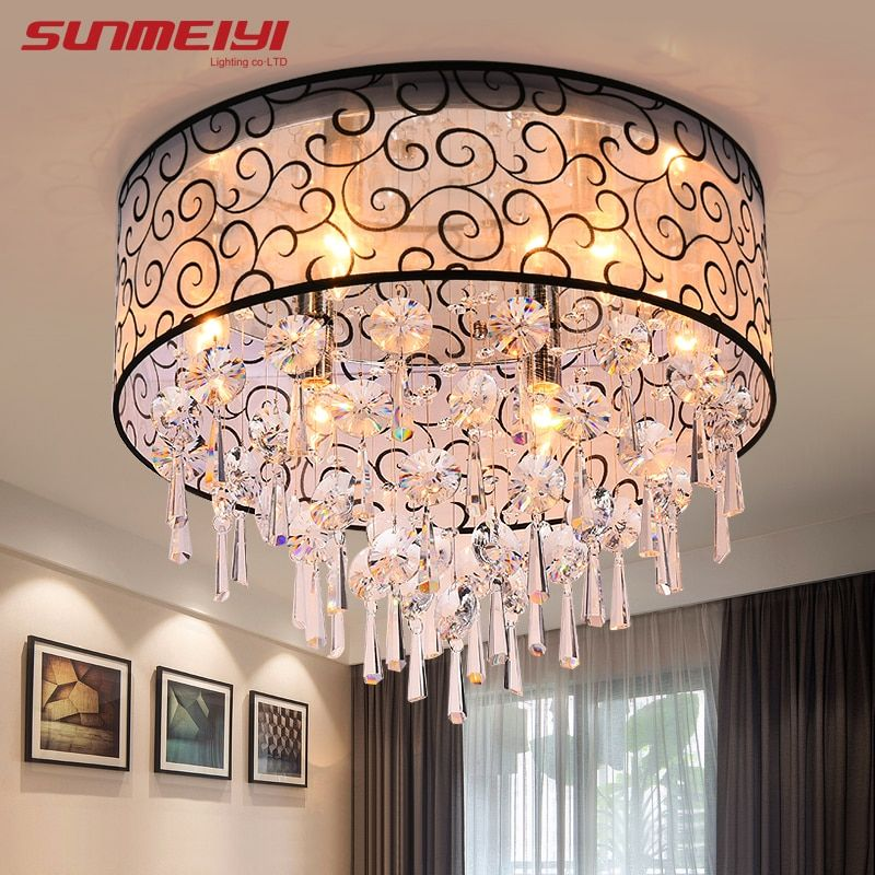 Modern Crystal Ceiling Lights For Living Room luminarias para sala plafon led Crystal Ceiling Lamp Fixtures For Bedroom