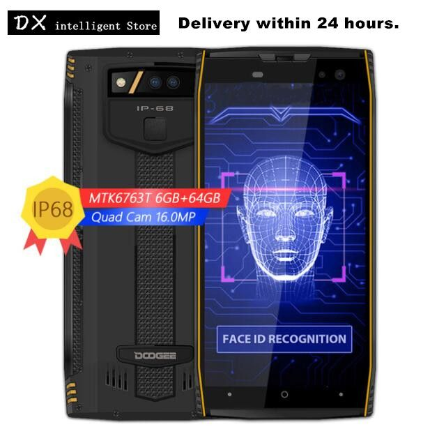 DOOGEE S50 6GB 64GB IP68 Waterproof Smartphone 5180mAh Fast Charge 5.7
