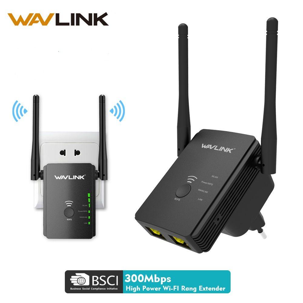 Wavlink Sans Fil Wifi Répéteur 300 mbps Universel 2.4g Wifi Amplificateur de Signal Routeur 5dBi WIFI Extender longue portée AP Mode booster