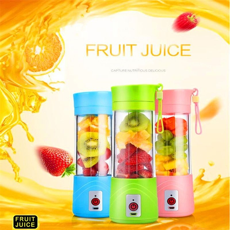Mini Portable USB Electric Fruit Juicer Machine Rechargeable Smoothie Maker Blender Shake Take Juice 3 Colors Outdoor Travel