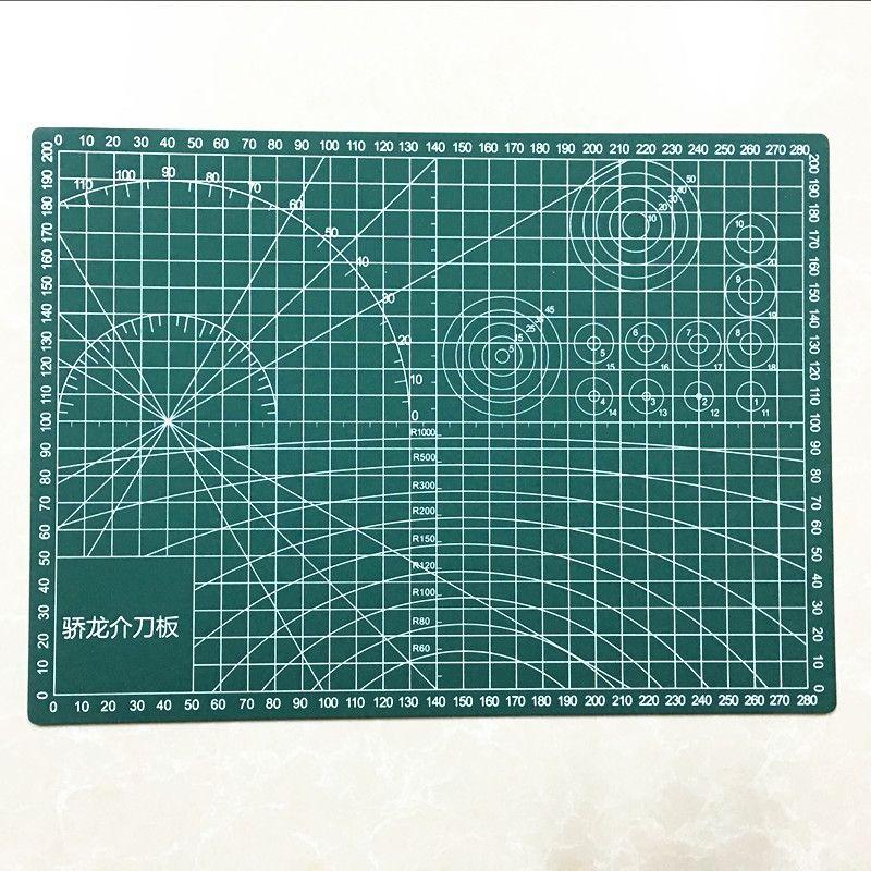 A3/A4/A5 PVC tapis de coupe Durable auto-guérison coupe Pad Patchwork outils accessoires à créer soi-même plaque de coupe vert foncé gravure conseil