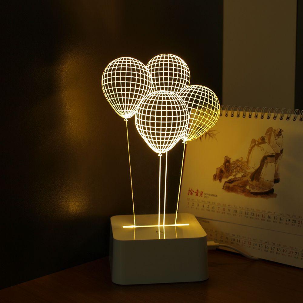 Шар Новинка USB Touch 3D ночник трехмерной dimmable настольная лампа как Домашний декор таблицы Lamparas De Mesa
