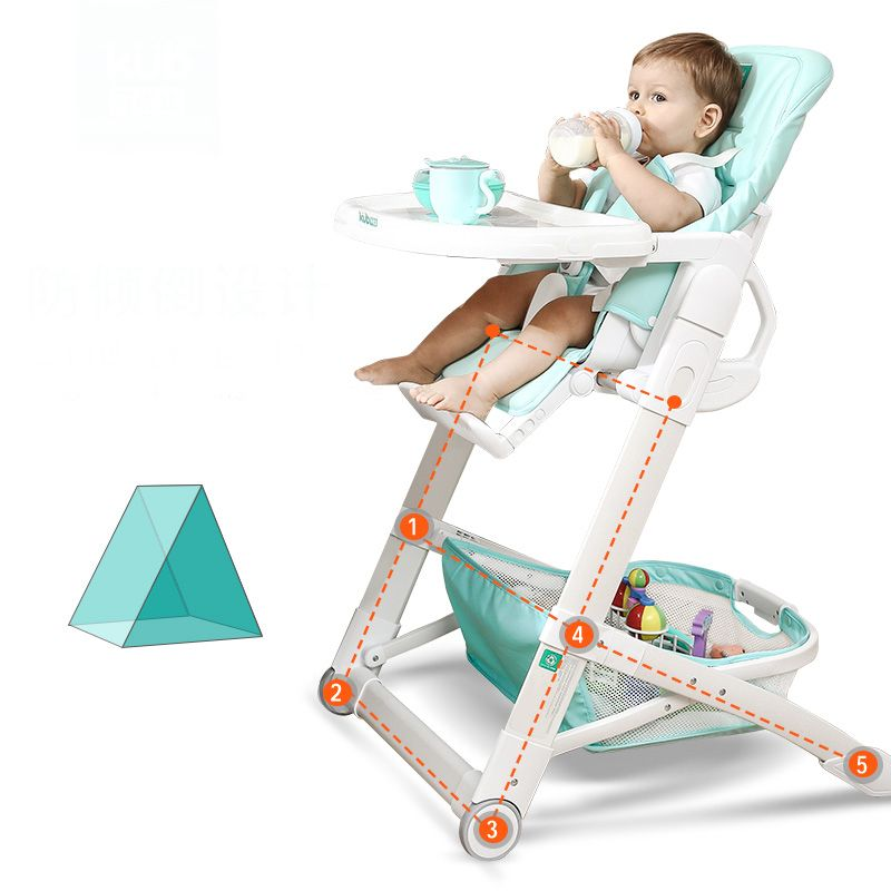 Baby Chair Highchairs Multifunctional Baby Chair Portable Folding Dining Tables Five-step adjustment anti-dumping design