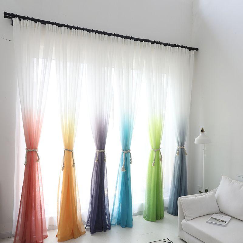 Tulle rideaux 3d imprimé cuisine décorations fenêtre traitements américain salon diviseur pure Voile rideau simple panneau