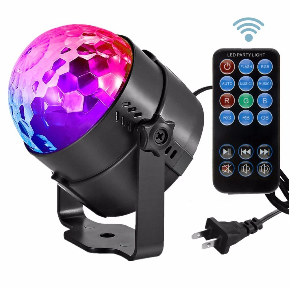 LED Crystal Magic Ball 3W Mini RGB Stage Lighting Effect Lamp Bulb Party Disco Club DJ Light Show Lumiere US/EU Plug