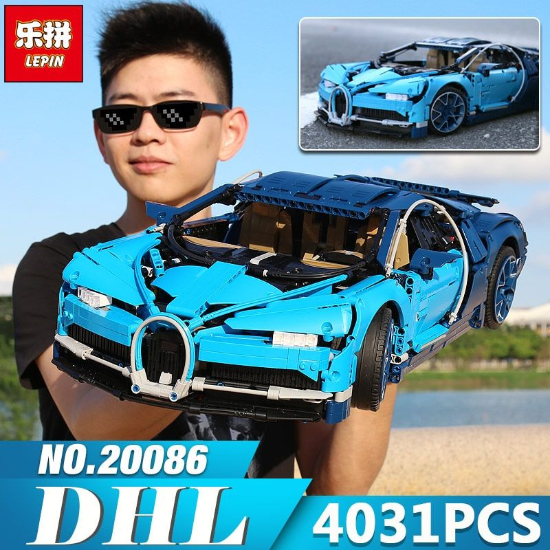 2018 New Lepin 20086 Technic Figures Chiron Racing Car Sets Compatible legoings 42083 Model Building Kits Blocks Bricks Boy Toys