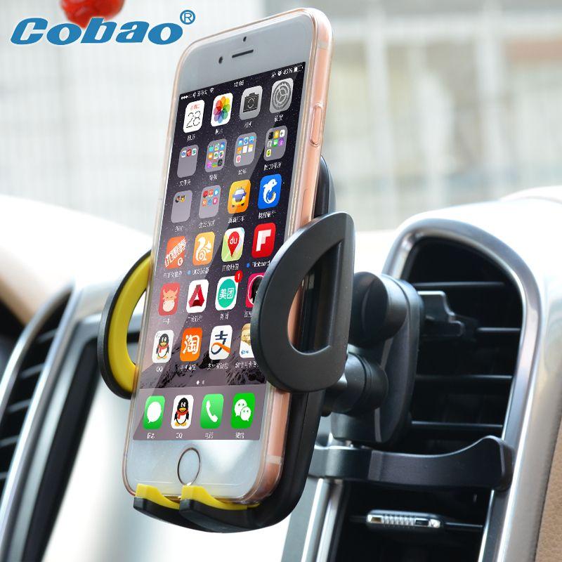 Support pour téléphone universel 360 support de prise d'air réglable pour voiture support de téléphone portable pour voiture GPS pour iPhone 7 5 s 6 s Plus Samsung S7