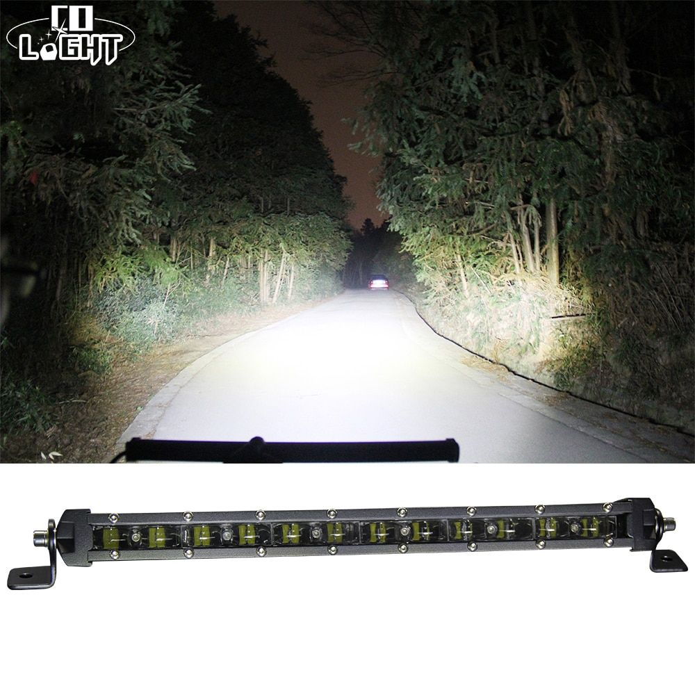 CO LIGHT 90W 20'' Led Bar Slim Offroad 6D 6000K Single Work Light Bar Combo for Barra Led Lada Niva 4x4 Jeep Ford Car Styling