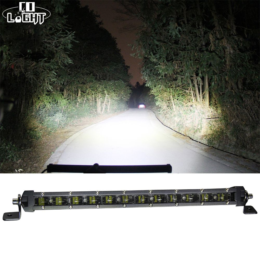 CO LIGHT 90W 20'' Led Bar Slim Offroad 6D 6000K Single Work Light Bar Combo for Barra Led Lada Niva 4x4 Jeep Ford Car Styling