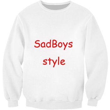 Plstar Космос грустно футболки на мальчиков любимый зеленый чай Сумасшедший потеет Для женщин Для мужчин японские иероглифы джемпер Пуловеры ...