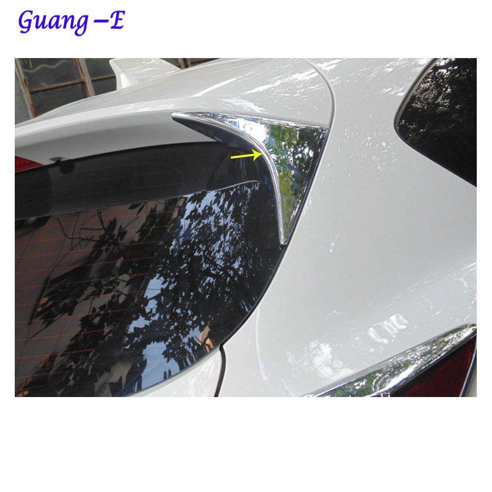Voiture style couverture queue ABS arrière Spoiler côté triangle moulage fenêtre lunette garniture 2 pièces pour Mazda CX-5 CX5 2013 2014 2015 2016
