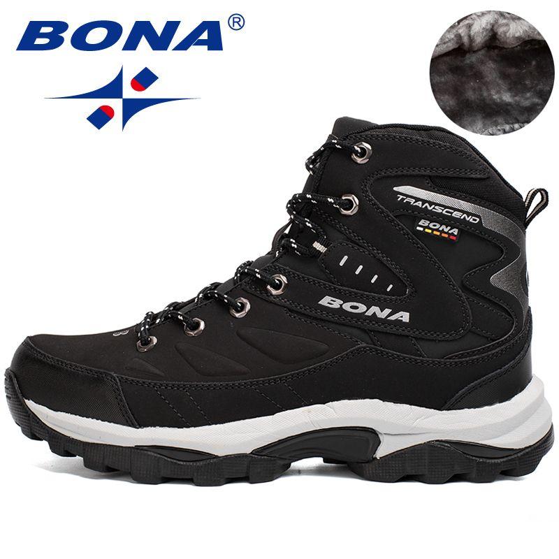 BONA New Hot Style Men Hiking Shoes Winter Outdoor Walking Jogging Shoes Mountain Sport Boots Climbing Sneakers Free Shipping